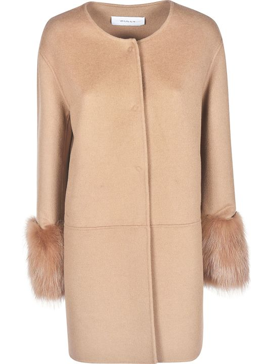 Bully Long Sleeve Furred Cuff Coat