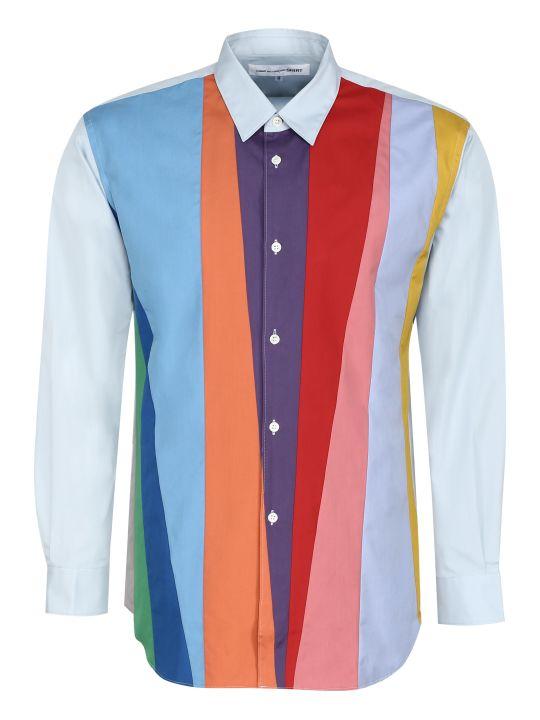 Comme des Garçons Shirt Color Block Cotton Shirt