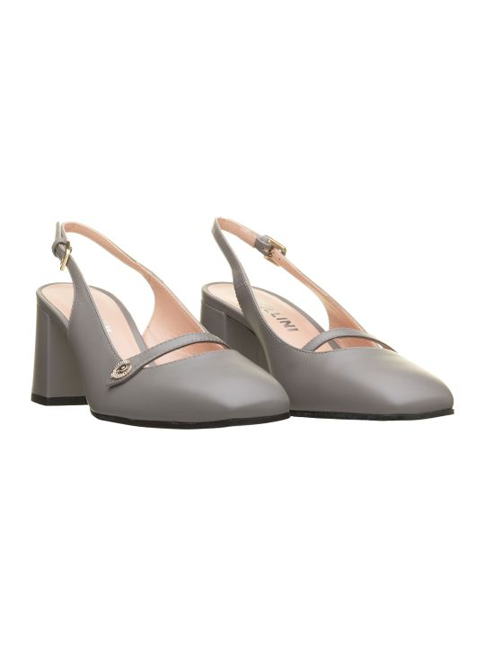 Pollini Pollini Grey Leather Slingback