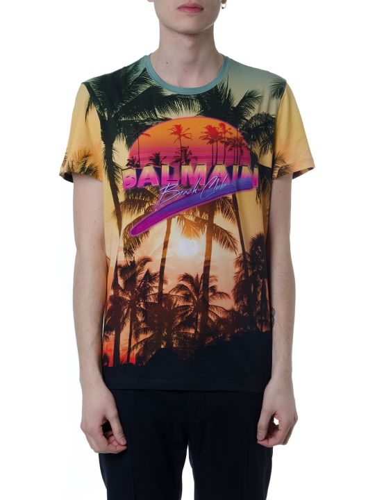 Balmain Multicolor Beach Club Cotton T-shirt