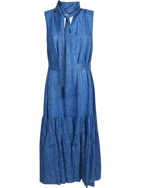Rochas Wrinkled Sleeveless Tied Dress