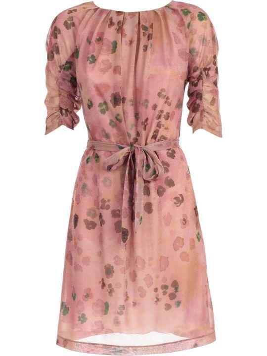 Blumarine Dress 3/4s Camouflage Lurex