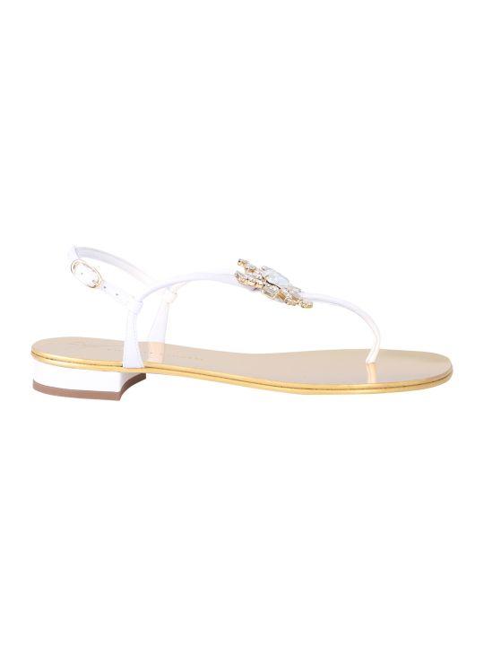 Giuseppe Zanotti Crystal Crab Flat Flip-flops