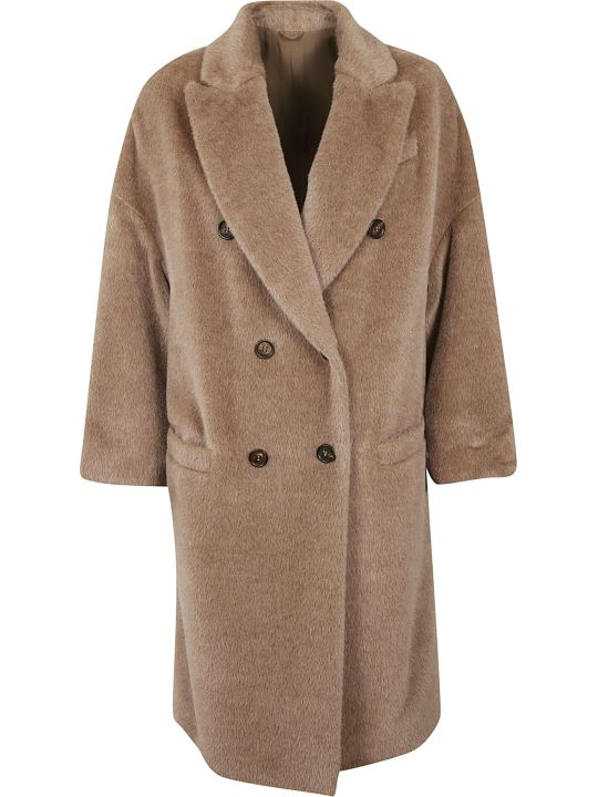 Brunello Cucinelli Double-breasted Fur Coat