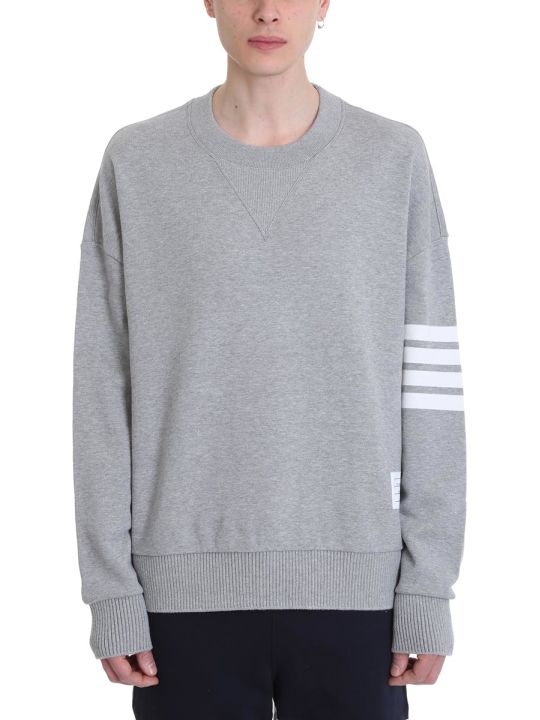 Thom Browne Oversized Grey Cotton Sweatshirt