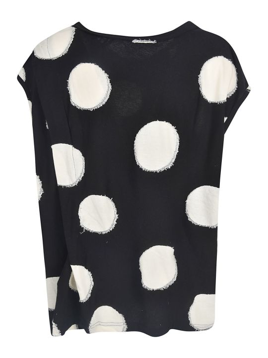 Y's Frayed Polka-dot Tank Top