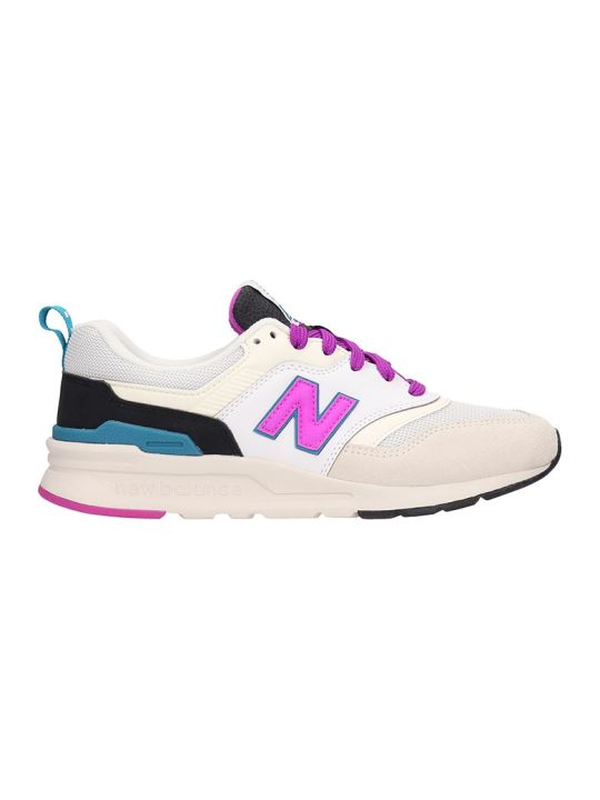 New Balance Suede And Canvas White 997 Sneakers