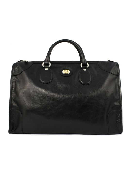 Gucci Black Soft Leather Duffle