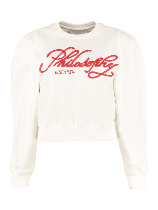 Philosophy di Lorenzo Serafini Cropped Cotton Sweatshirt