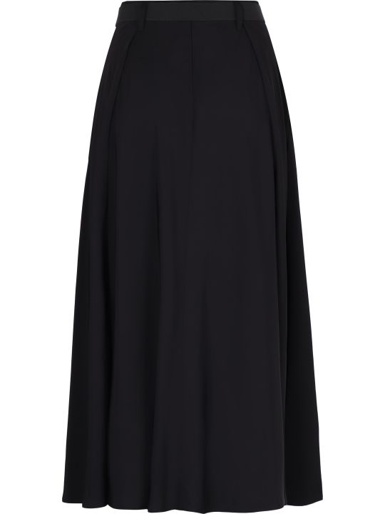 Prada Belted Pleated Skirt