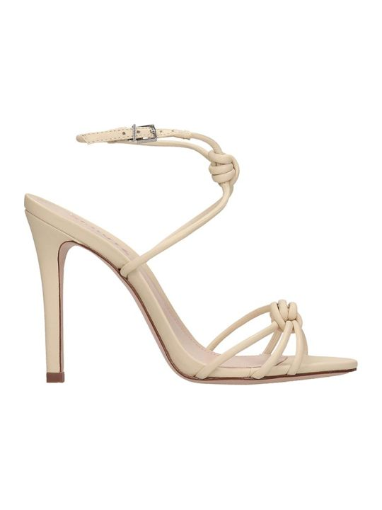 Schutz Sandals In Beige Leather