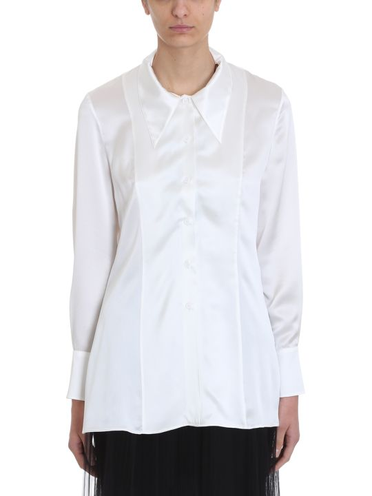 Maison Margiela White Silk Shirt