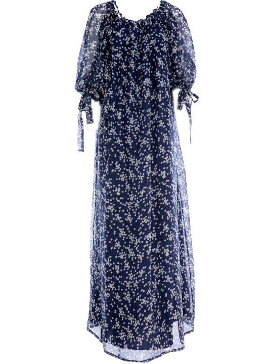 Parosh P.a.r.o.s.h. Chiffon Long Dress