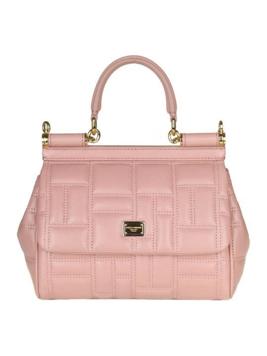 "Dolce & Gabbana Handbag ""miss Sicily"" In Nappa Matelasse Color Pink"