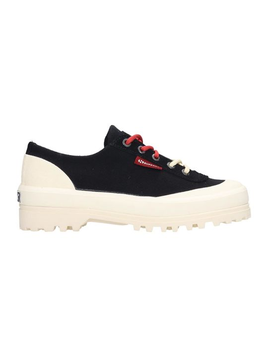 Superga Alpina Low Sneakers In Black Canvas