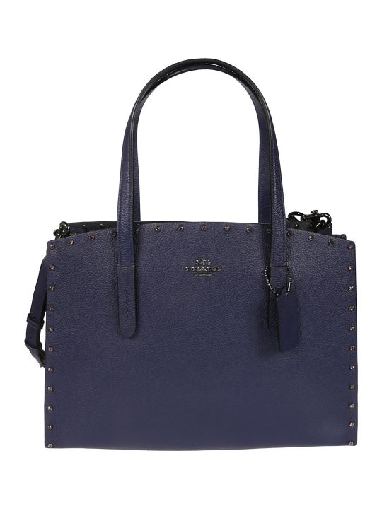 Coach Crystal Rivet Charlie Tote