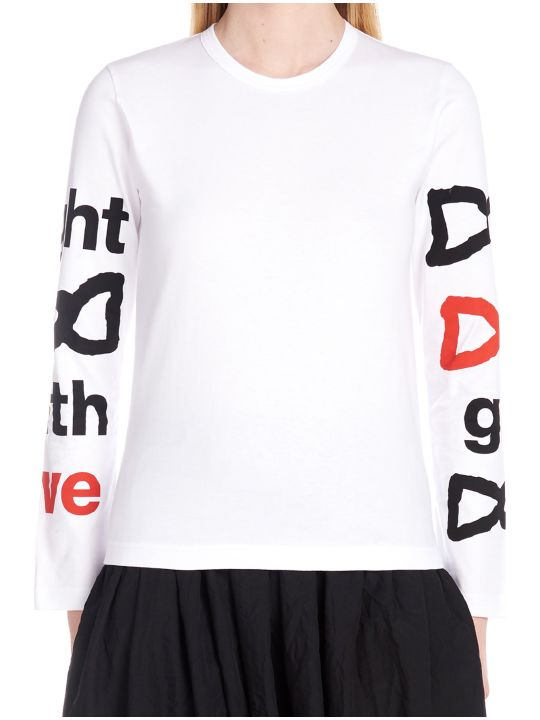 Comme Des Garçons Girl 'fight With Love' T-shirt