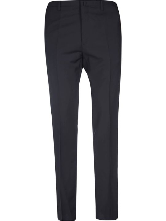 Lanvin Side Pleated-jacquard Ribbon Trousers
