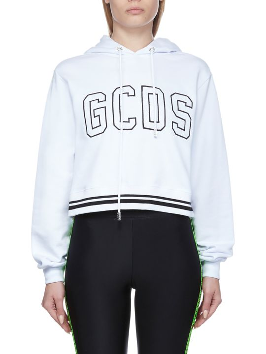 GCDS Cropped Logo Hoodie