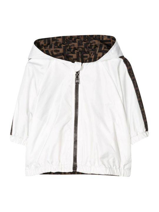 Fendi Kids Jacket With Side Logo Bands