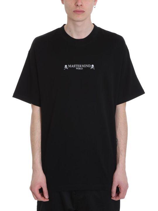 MASTERMIND WORLD Oversize Black Cotton T-shirt