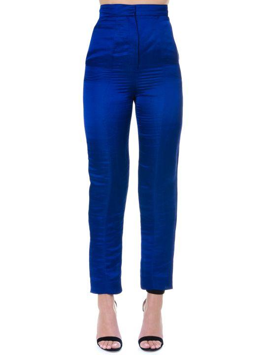 Lanvin Sapphire Hemp Wide Legs Pants