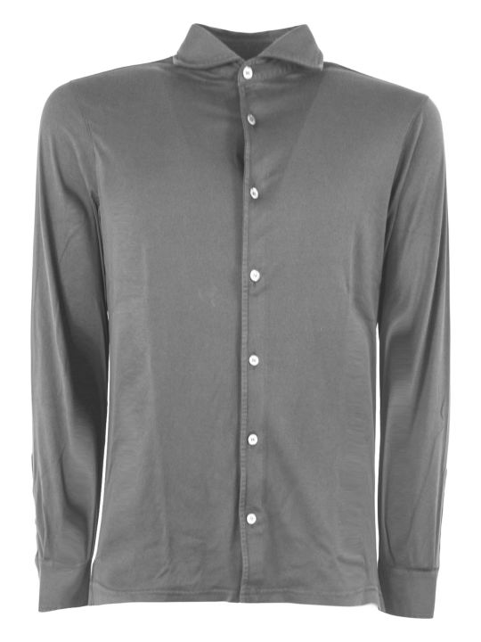 Fedeli Black Cotton Shirt