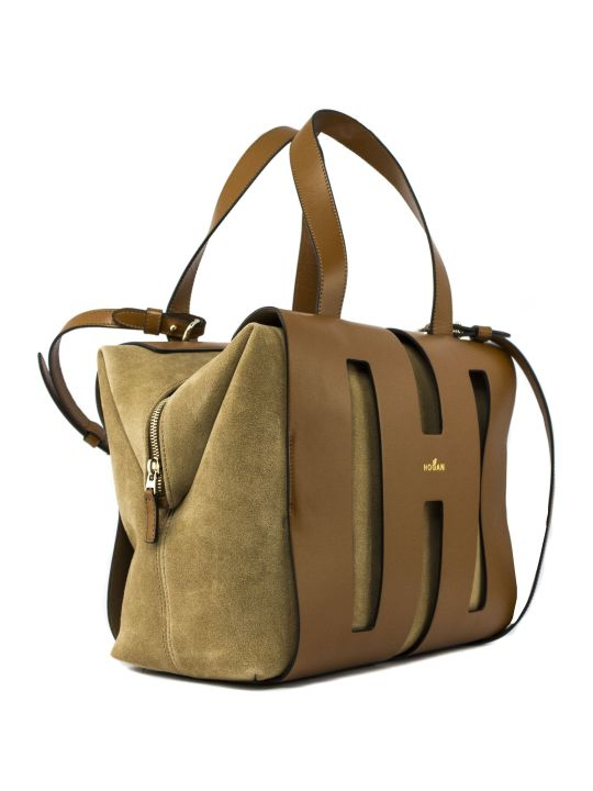 Hogan Boston Bag H015 In Brown
