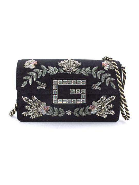 Gucci Black Moiré Fabric Shoulder Bag