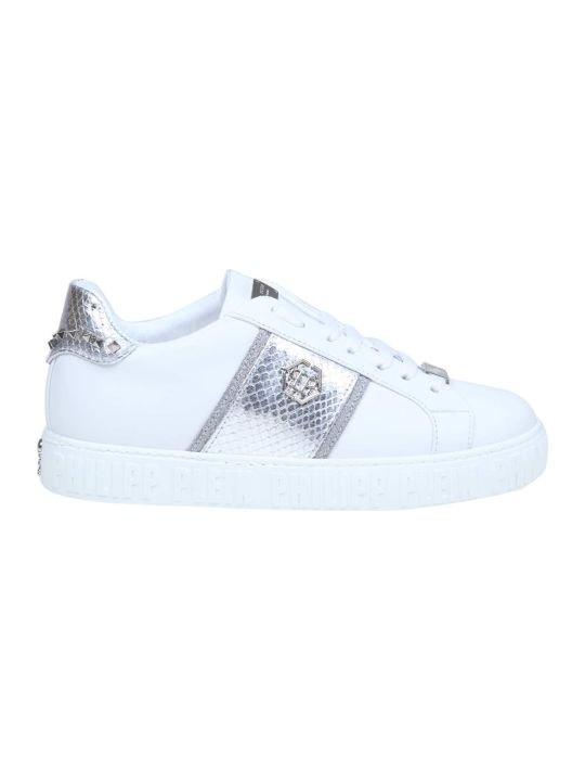 Philipp Plein Sneakers Lo-top Studs In White Leather