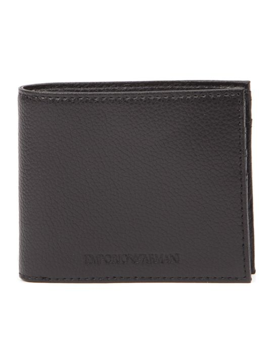 Emporio Armani Black Leather Wallet With Logo