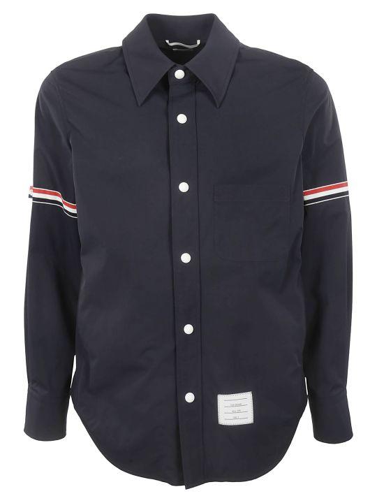 Thom Browne Striped Trim Shirt