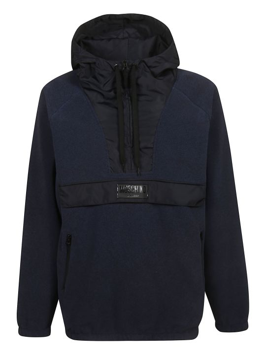 Moschino Zipped Placket Hoodie