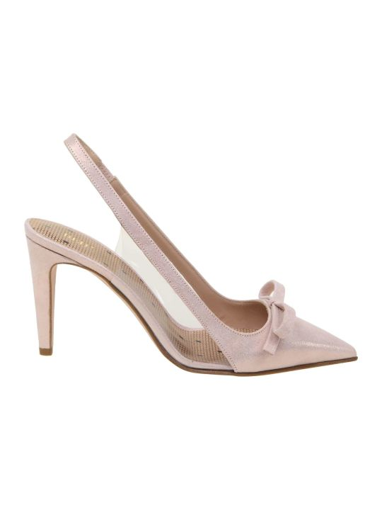 RED Valentino Slingback Leather Sandie Powder Color