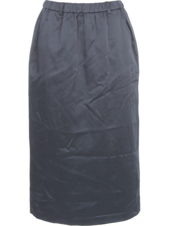 Aspesi Cotton Pencil Skirt Elastic Waist