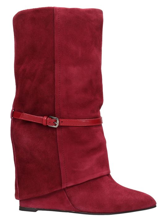 The Seller Red Suede Ankle Boots