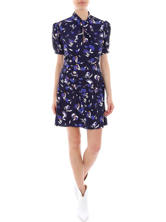 self-portrait Botanical Printed Mini Dress