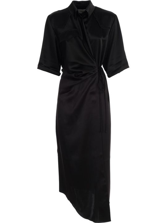 Nanushka Dress 3/4s Shirt Collar W/belt