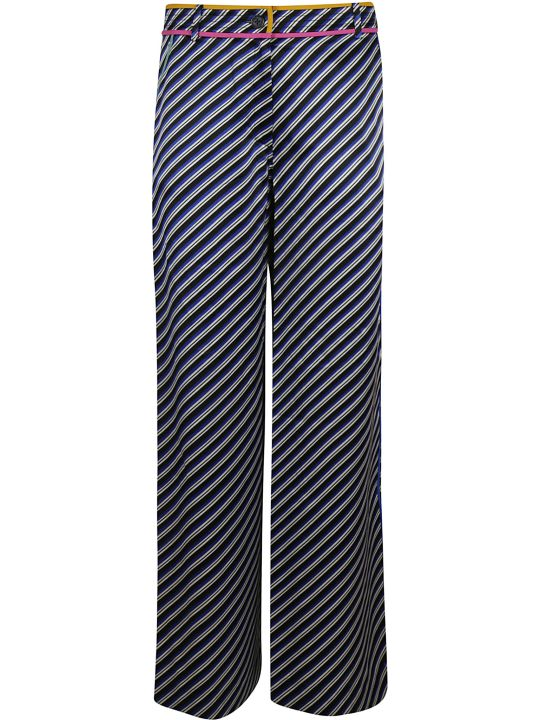 Tory Burch Contrast Binding Printed Pajama Pants