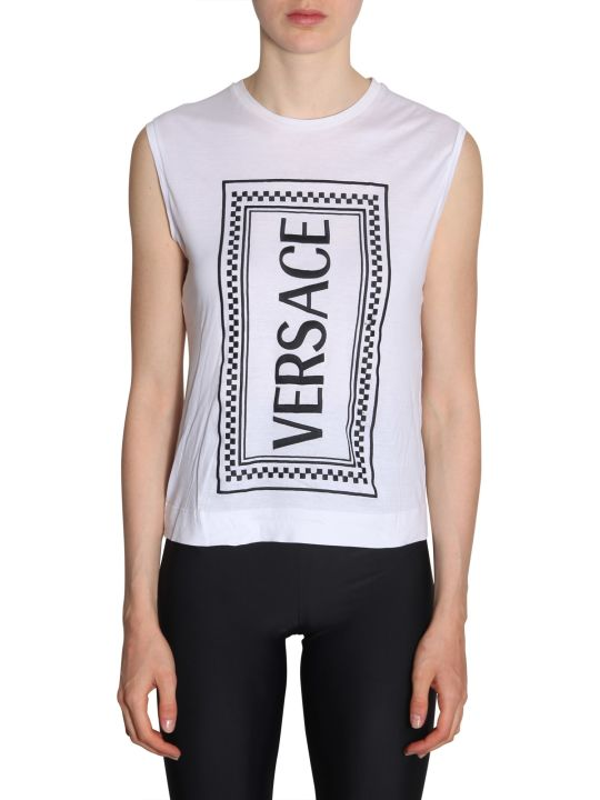 Versace Top With Embroidered Logo
