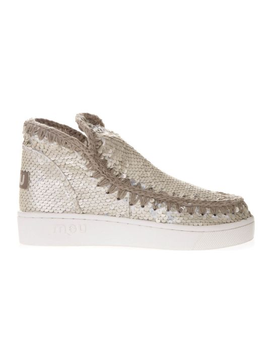 Mou Sand Eskimo Low-cut Sequined Sneakers