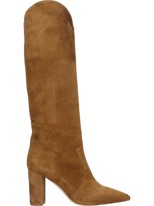The Seller Low Heels Boots In Leather Color Suede