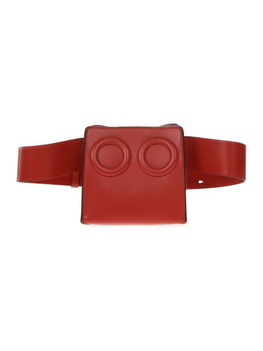 BOYY Deon Red Leather Beltbag