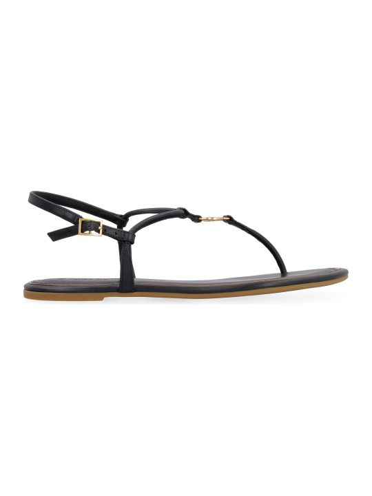 Tory Burch Emmy Leather Flat Sandals
