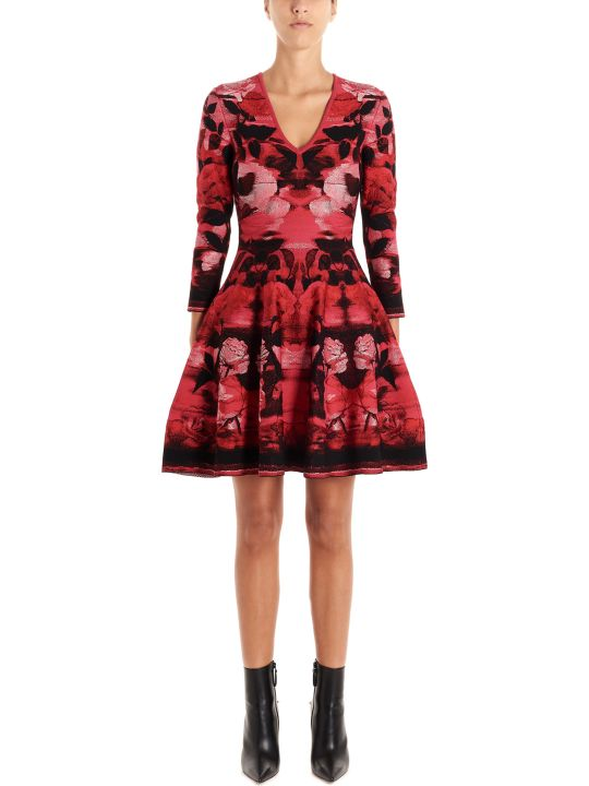 Alexander McQueen 'blurred Rose' Dress