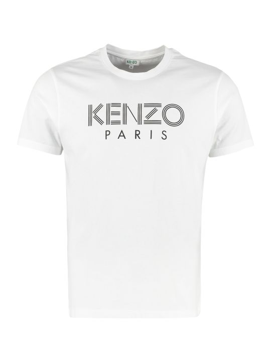 Kenzo Printed Cotton Short Sleeved T-shirt