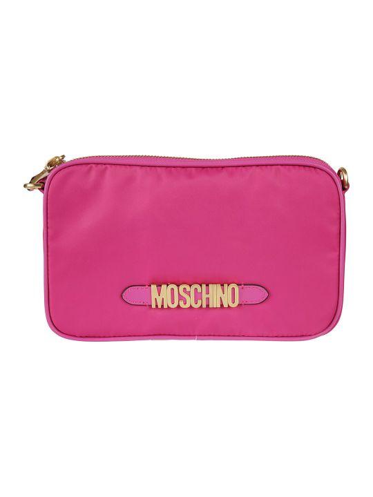 Moschino Logo Plaque Pouch