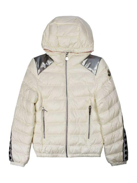 Moncler White Padded Hooded Jacket