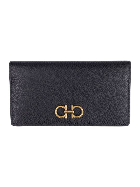Salvatore Ferragamo Gancini Leather Wallet