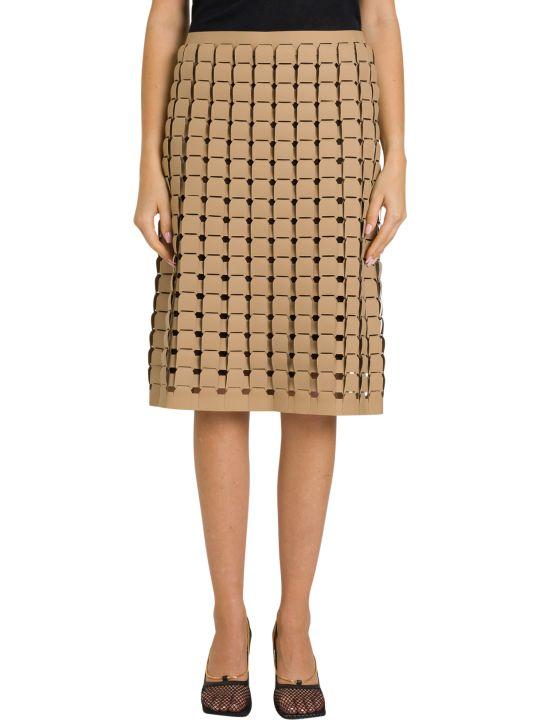 Bottega Veneta Skirt In Rubber Satiné